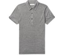 Sebastian Slim-fit Mélange Merino Wool Polo Shirt