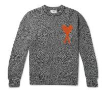 Oversized Logo-Intarsia Cotton and Merino Wool-Blend Sweater
