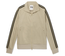Striped Tech-jersey Track Jacket - Beige
