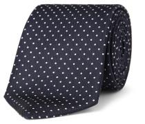 8cm Polka-dot Silk Tie - Navy