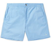 Prepster Stretch-cotton Twill Shorts - Blue