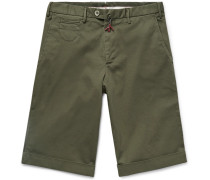 Cotton-Blend Twill Bermuda Shorts