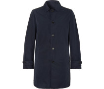 Slim-fit Garment-dyed Shell Trench Coat