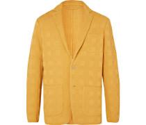 Marigold Textured-cotton Blazer