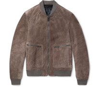 Winswell Suede Bomber Jacket - Brown