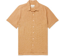Checked Cotton and Linen-Blend Shirt