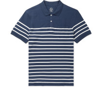 Striped Stretch-Cotton Piqué Polo Shirt