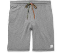 Wide-leg Cotton-jersey Drawstring Shorts - Gray