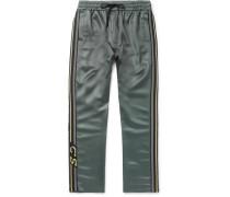 Buck Striped Satin Sweatpants - Gray