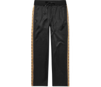 Striped Jersey Sweatpants - Black