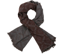 Schal, Wolle-Modal, -braun gemustert