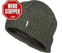 Mütze, Wolle Windstopper®, dunkel meliert