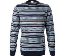 Pullover, Wolle,  gemustert
