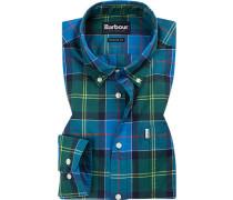 Hemd, Tailored Fit, Popeline, -grün kariert