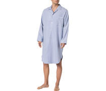 Nachthemd, Baumwolle, bleu gemustert