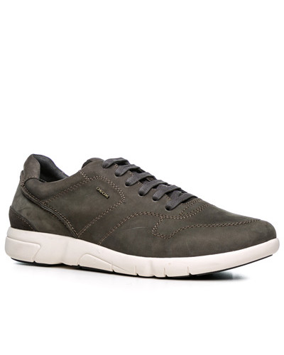Geox Herren Schuhe Sneaker, Nubukleder Respira®, taupe