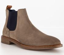 Schuhe Chelsea Boots, Veloursleder, taupe