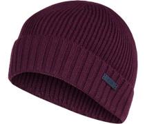 Mütze, Wolle, bordeaux