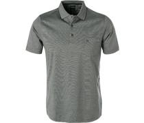Polo-Shirt, Baumwoll-Jersey, scwharz gestreift