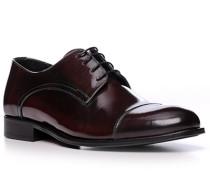 Schuhe Derby, Kalbleder, bordeaux
