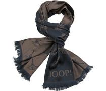Schal, Baumwolle, dunkel-braun gemustert