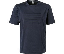 T-Shirt, Relaxed Fit, Baumwolle, dunkel