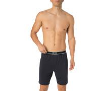 Schlafanzug Pyjama-Shorts, Mikrofaser, navy