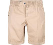 Hose Bermudashorts, Regular Fit, Baumwolle, sand