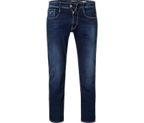 Jeans Anbass, Slim Fit, Baumwoll-Stretch, dunkel