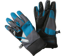 Handschuhe, Microfaser, -grau