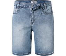 Jeansshorts, Baumwoll-Stretch, grau