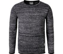Pullover, Baumwolle, -weiß meliert