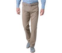Jeans, Regular Fit, Baumwoll-Stretch, sand