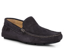 Schuhe Loafer, Veloursleder, navy