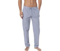 Pyjamahose, Baumwolle, -grau kariert