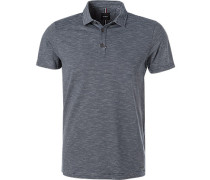 Polo-Shirt, Baumwoll-Jersey, navy gestreift