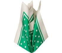 Accessoires Einstecktuch, Seide, grün gepunktet