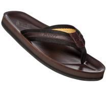 Schuhe Zehensandalen, Leder, dunkelblau