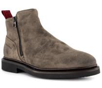 Schuhe Chelsea-Boots, Veloursleder, taupe