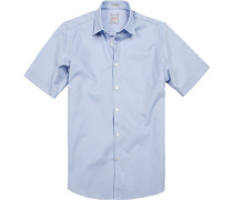 Kurzarmhemd, Modern Fit, Baumwolle, bleu
