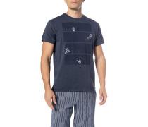 T-Shirt, Baumwolle, dunkel meliert