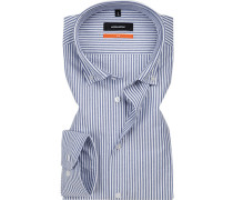 Hemd, Slim Fit, Oxford,  gestreift