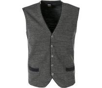 Pullover Strickweste, Baumwolle, grau- gemustert