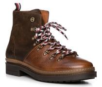 Schuhe Boots, Leder, dunkel-cognac