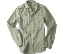 Hemd, Baumwolle, khaki