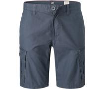 Hose Bermudas, Straight Fit, Baumwolle, marine