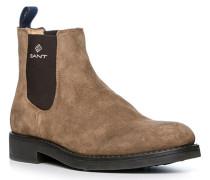 Schuhe Chelsea Boots, Veloursleder, hell