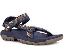 Schuhe Sandalen, Textil, dunkel gemustert