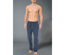 Pyjamahose, Baumwolle, navy gemustert