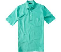 Polo-Shirt, Baumwoll-Piqué, pastelltürkis